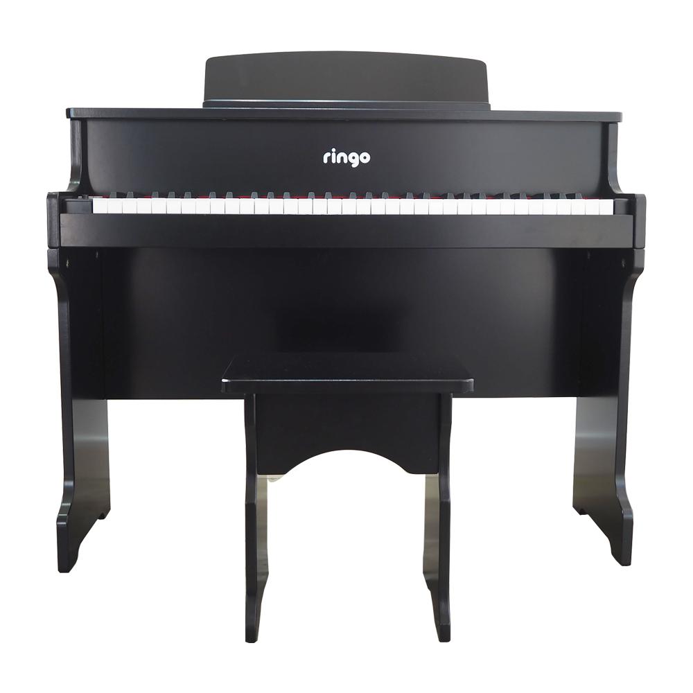 링고 키즈 61건반 디지털 피아노 RP-125 + 의자, 블랙
