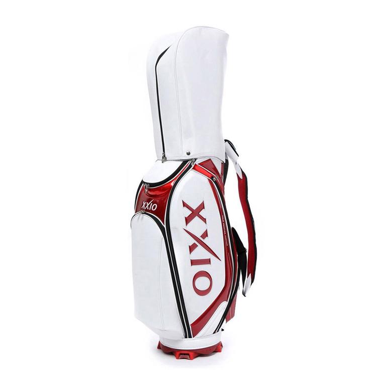 젝시오 레플리카 골프 캐디백 GGC-X090, 화이트 + 레드