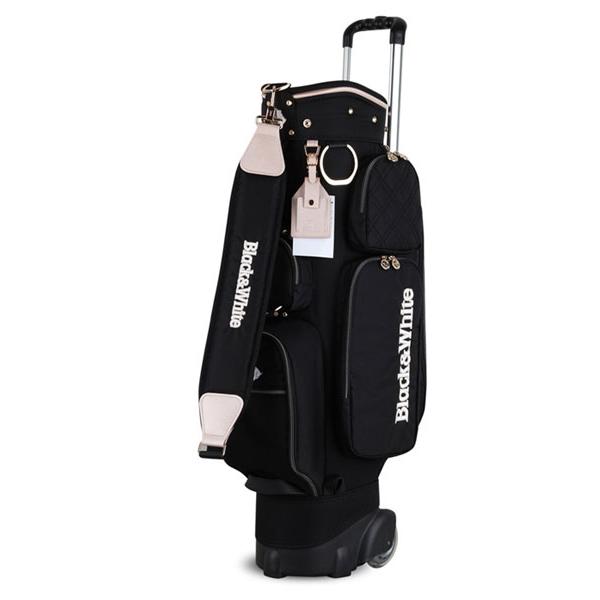 블랙앤화이트 여성 바퀴형 골프 캐디백 ZGK9C1, 블랙-8-1410087453