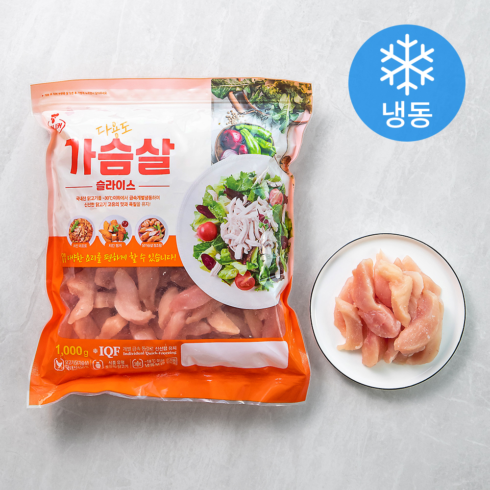 마니커 다용도 닭가슴살 슬라이스 (냉동), 1kg, 1개