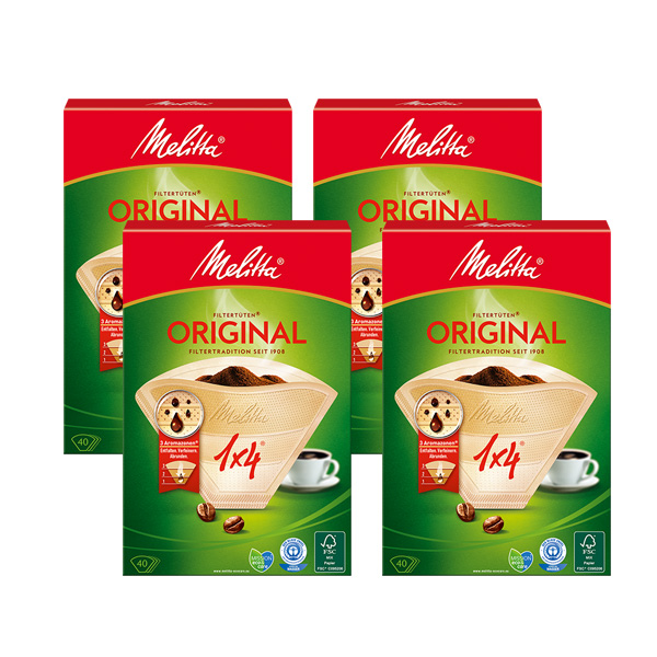 밀리타 오리지날 커피 여과지 10잔용, 40개입, 4개