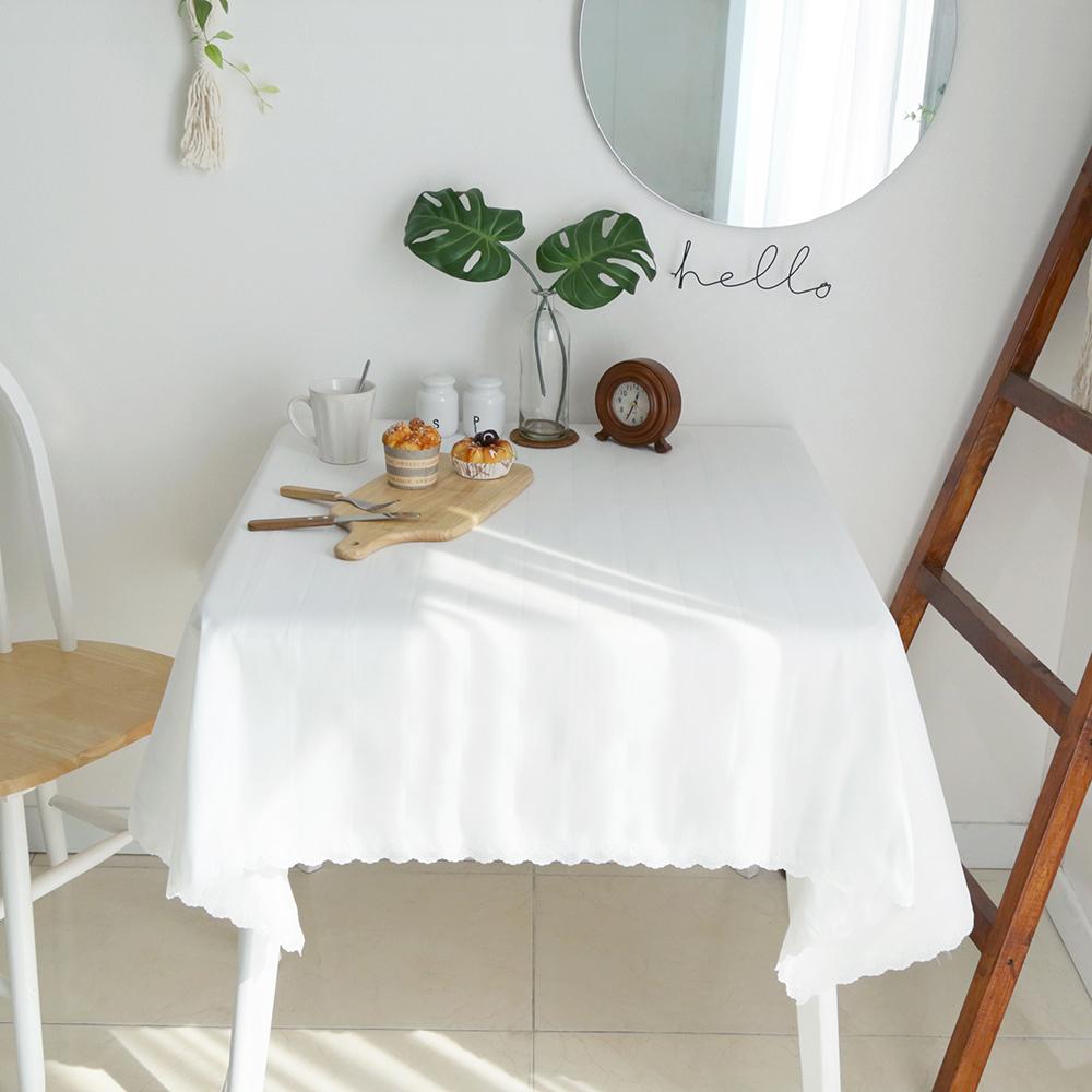 까사베르데 티티 고주파 식탁보, 화이트, 2인(130 x 130 cm)
