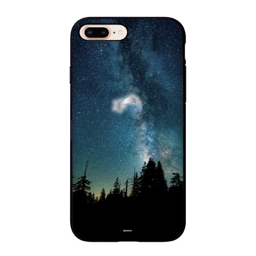 이지케이스 밤하늘 작은 달 별 미러 카드 범퍼 휴대폰 케이스