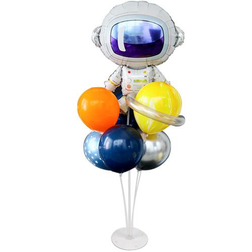 와우파티코리아 우주 비행사 풍선 꽂이 세트, 혼합색상, 1세트