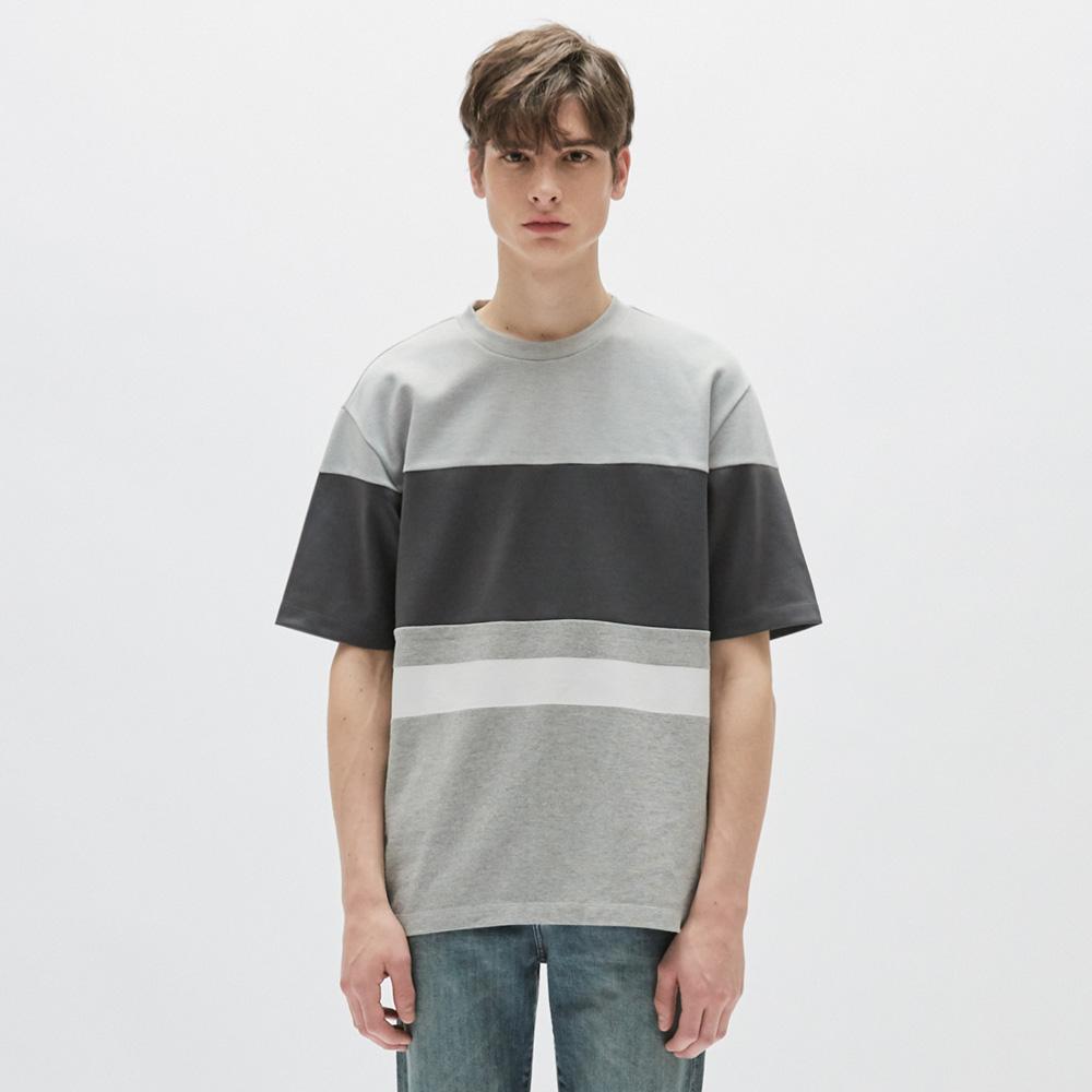 플랙 남성용 저지 믹스 블록 티셔츠