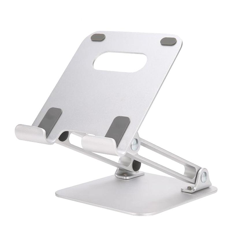 인담 알루미늄 접이식 태블릿 마운트 거치대, TX02, 은색