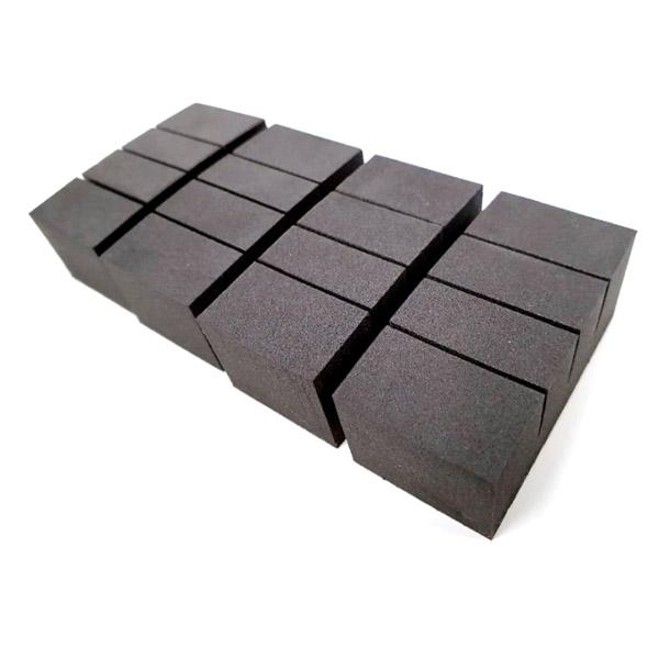 지엔 폭신폭신 커브 도어가드 4p, 블랙, 4세트