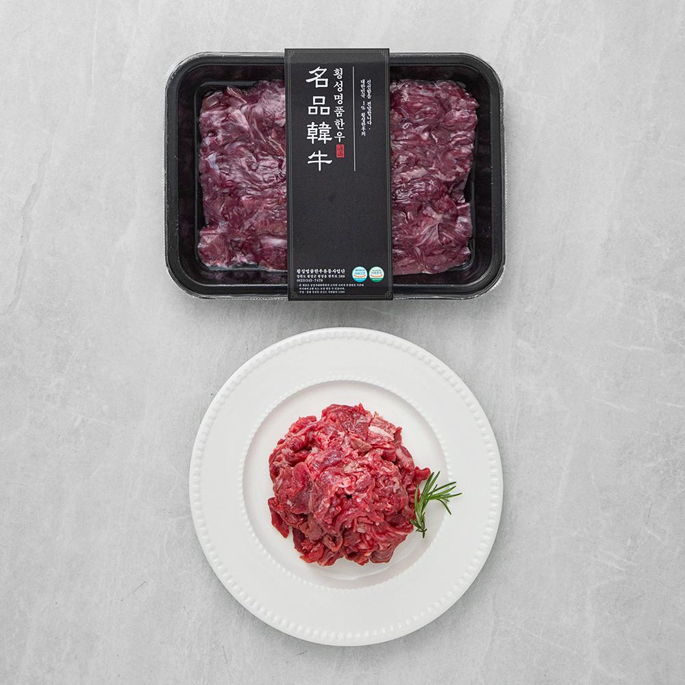 횡성한우 1+등급 불고기용 (냉장), 300g, 1팩