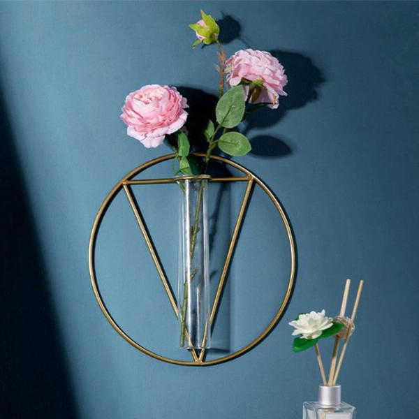그뤠잇라이프 와이어 벽걸이 꽃병  써클 트라이앵글에프엔씨 반달벽걸이 유리화병펀타스틱 북유럽 인테리어 와이어 벽걸이 미니 유리병