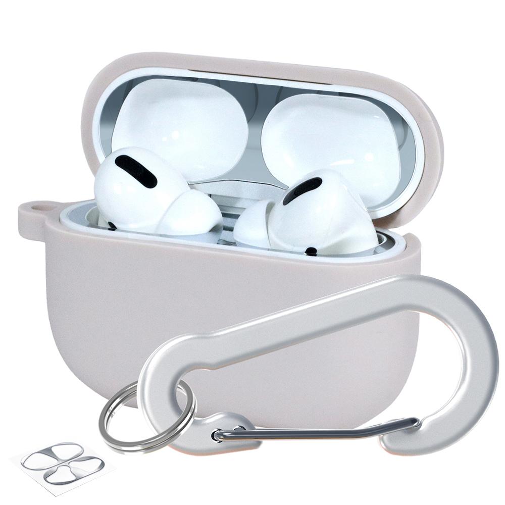슈퍼디비젼 에어팟프로 실리콘 젤리 키링 케이스 + 철가루 방지 스티커, 단일상품, 헤이지