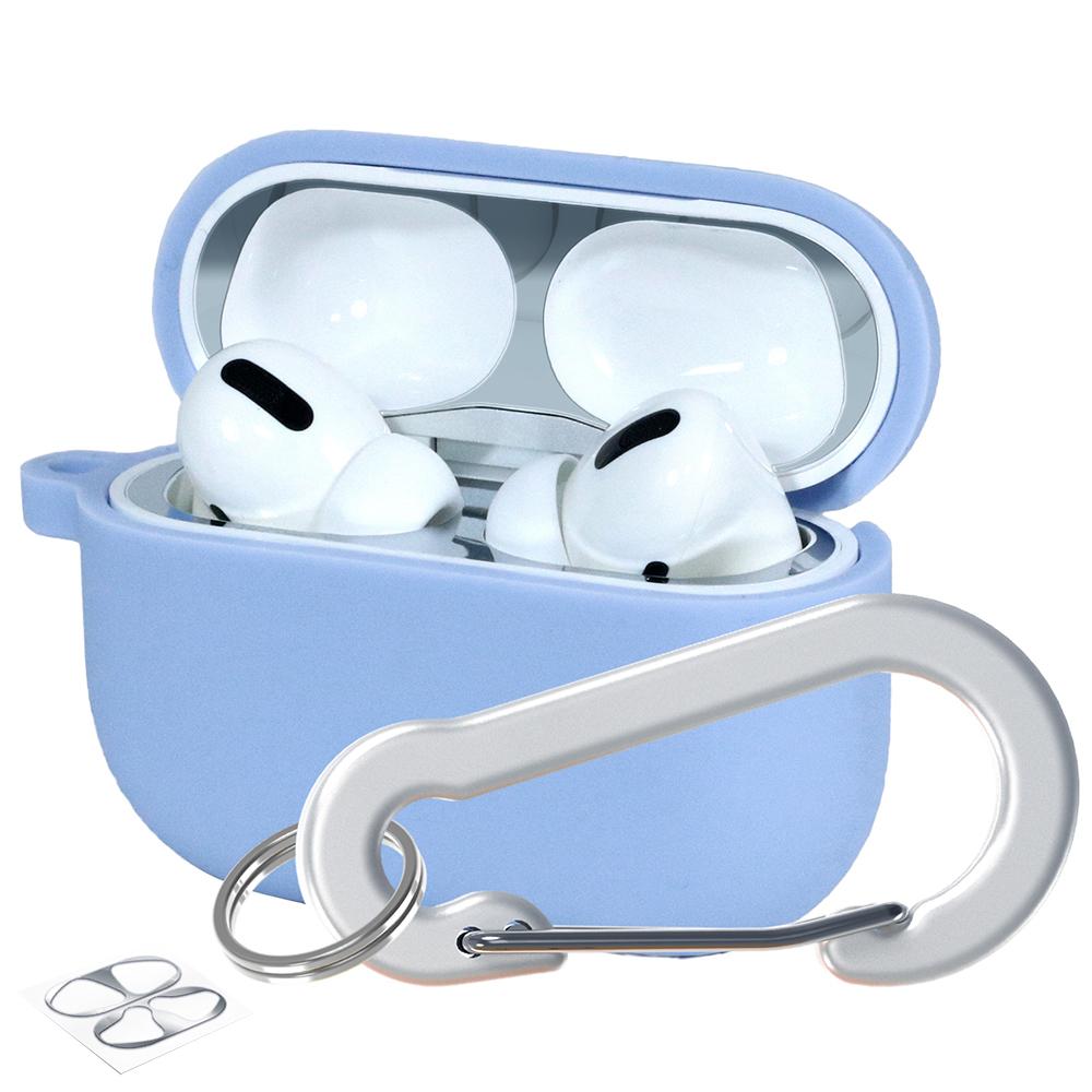 슈퍼디비젼 에어팟프로 실리콘 젤리 키링 케이스 + 철가루 방지 스티커, 단일상품, 샤리아