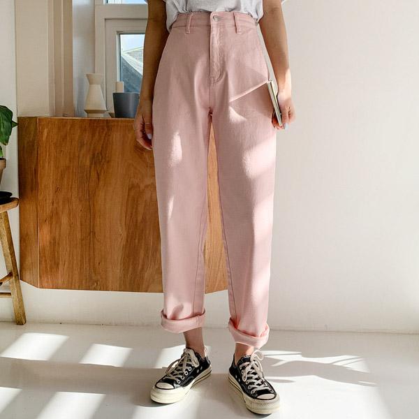 엔비룩 여성용 컬러 배기 팬츠