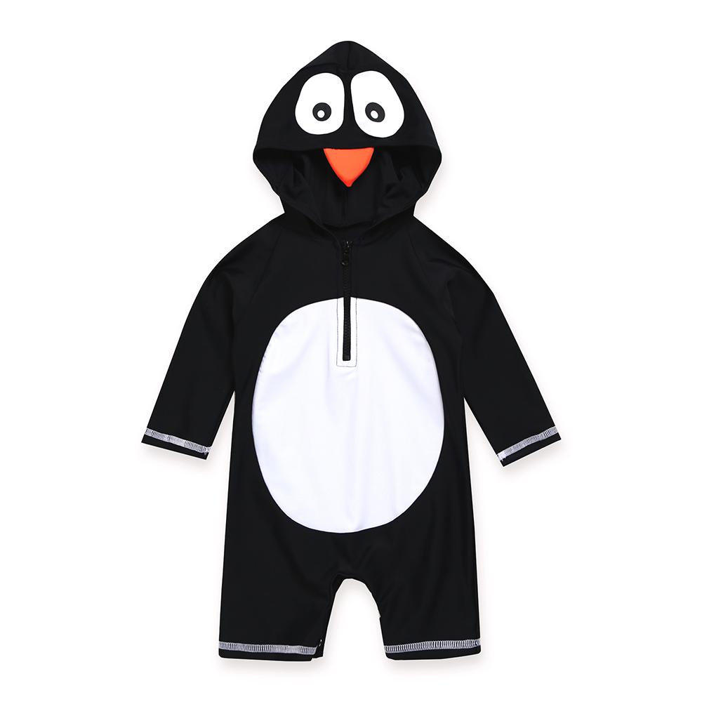 배냇베이비 유아용 베이비펭귄 우주복 수영복