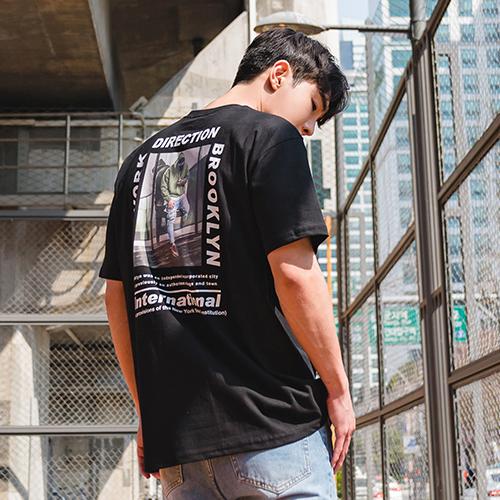 빅사이즈클럽 남성용 DG 전사디렉션 반팔 티셔츠