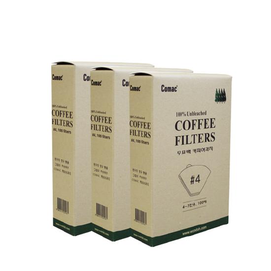 코맥 케이스 커피여과지 4, 100개입, 3개