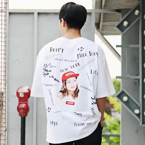 빅사이즈클럽 남성용 US 슈퍼박스 반팔 티셔츠
