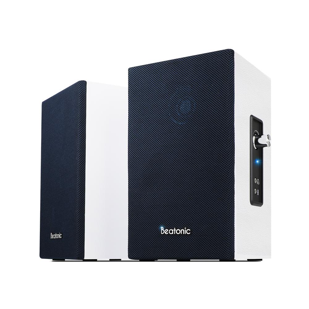 앱코 BEATONIC SP400BT 2채널 PC 블루투스 스피커, 단일상품, 네이비 + 화이트