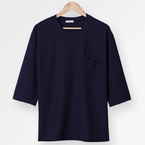 단군 오버핏 링클프리 7부 티셔츠