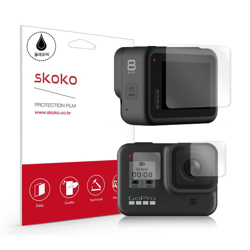 스코코 고프로 히어로8 보호 필름 액정 + 카메라 렌즈 + 디스플레이 세트, 단일상품, 1세트