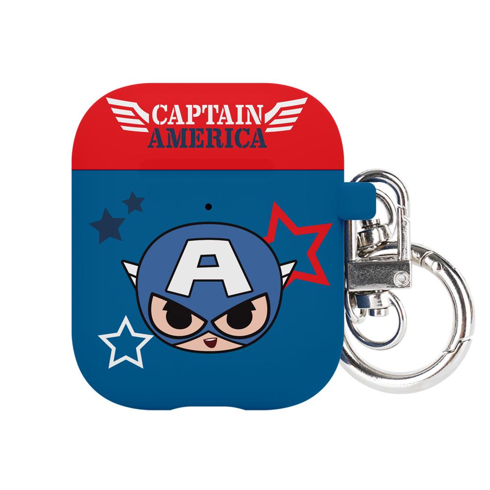 마블 미니 에어팟 1 / 2 세대 케이스 + 키링, 단일상품, 캡틴아메리카