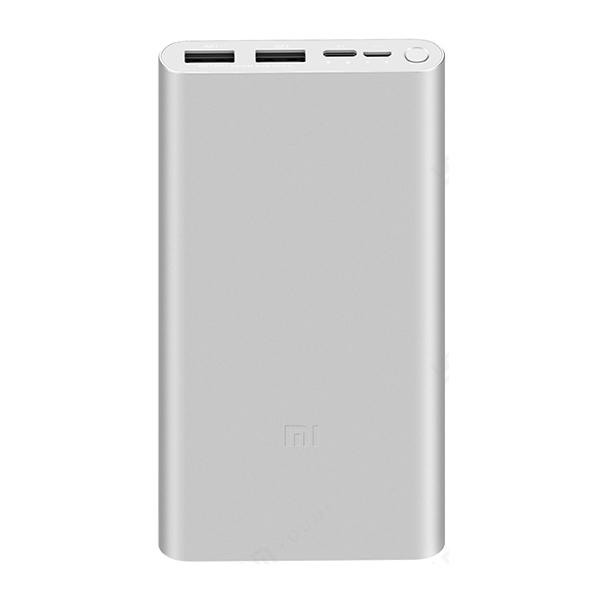 샤오미 10000mAh 보조배터리 3 USB-A, PLM13ZM, 실버