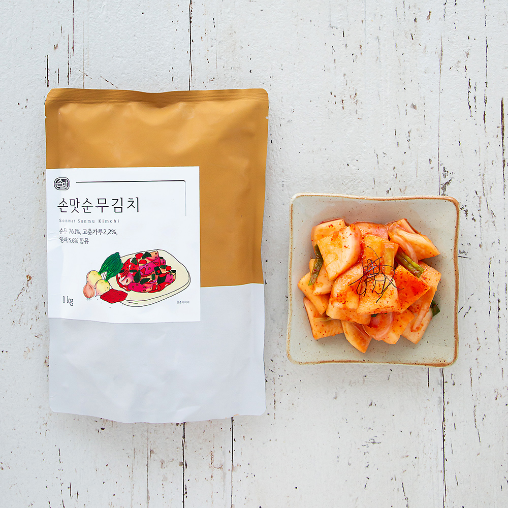 손맛 순무 김치, 1kg, 1개