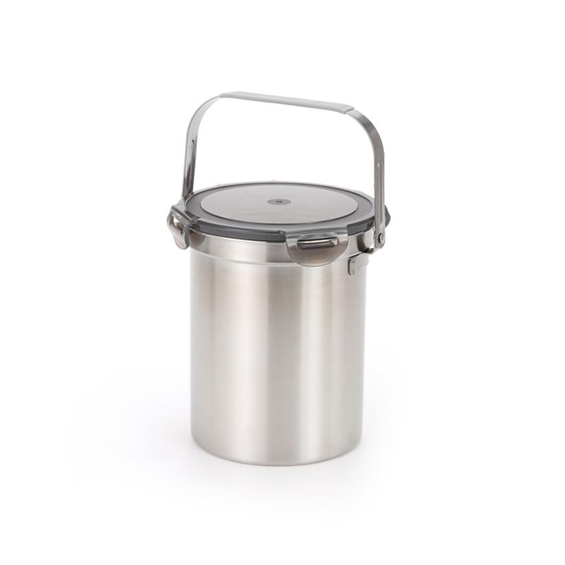 프리미엄 304 스텐 음식물 쓰레기통 밀폐형 2900ml