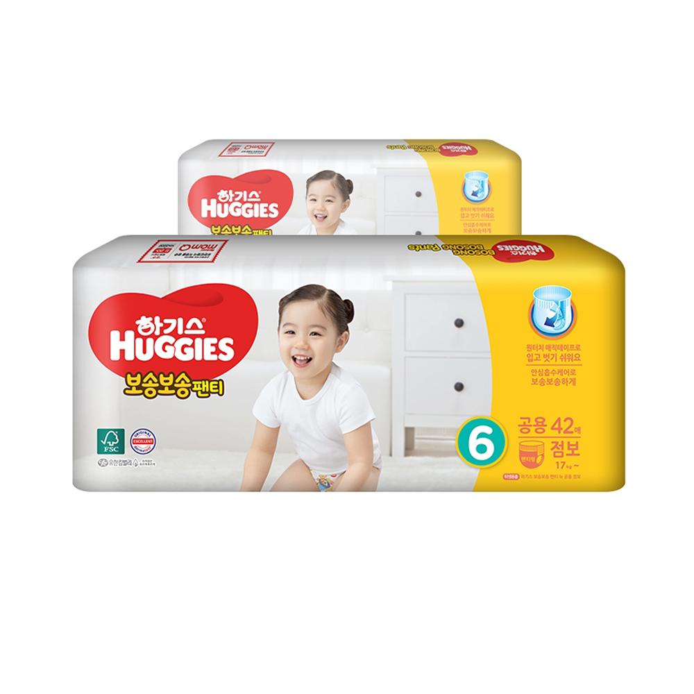 하기스 2020 보송보송 팬티형 기저귀 남여공용 점보 6단계(17kg~ ), 84매