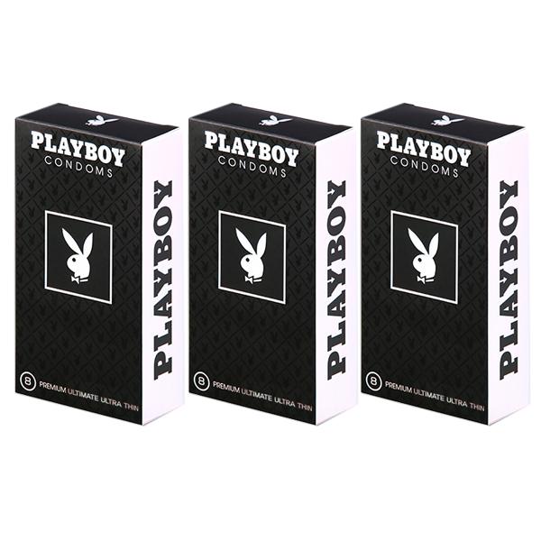 플레이보이 프리미엄 극초박형 콘돔, 8개입, 3개