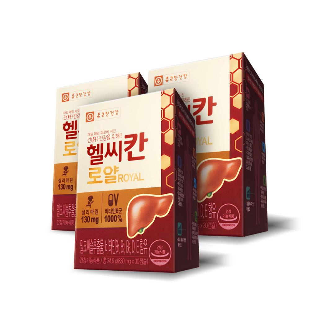 종근당건강 헬씨칸 로얄 밀크시슬, 30정, 3개