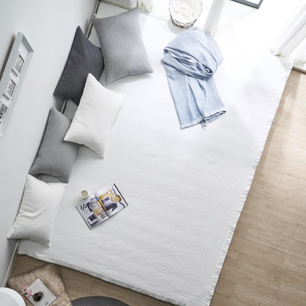 에코데코 로디나 순면 60수 워싱 피그먼트 패밀리 침대패드, 크림아이보리