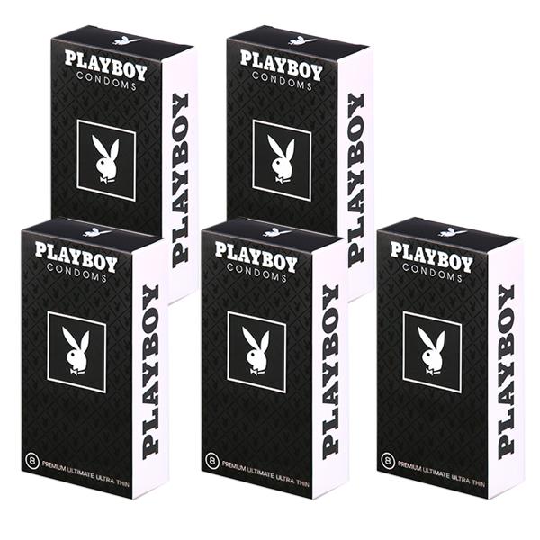 플레이보이 남성용 극초박형 콘돔, 8개입, 5개