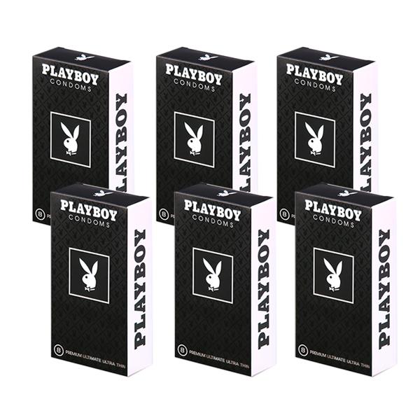 플레이보이 남성용 극초박형 콘돔, 8개입, 6개