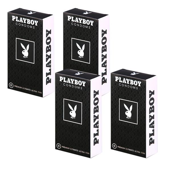 플레이보이 남성용 극초박형 콘돔, 8개입, 4개