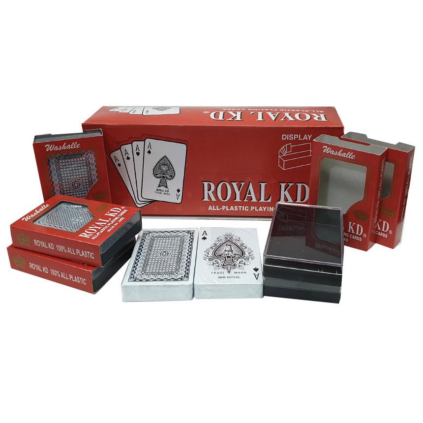 로얄 KD 보급형 포커 트럼프카드 12p 세트, 혼합색상
