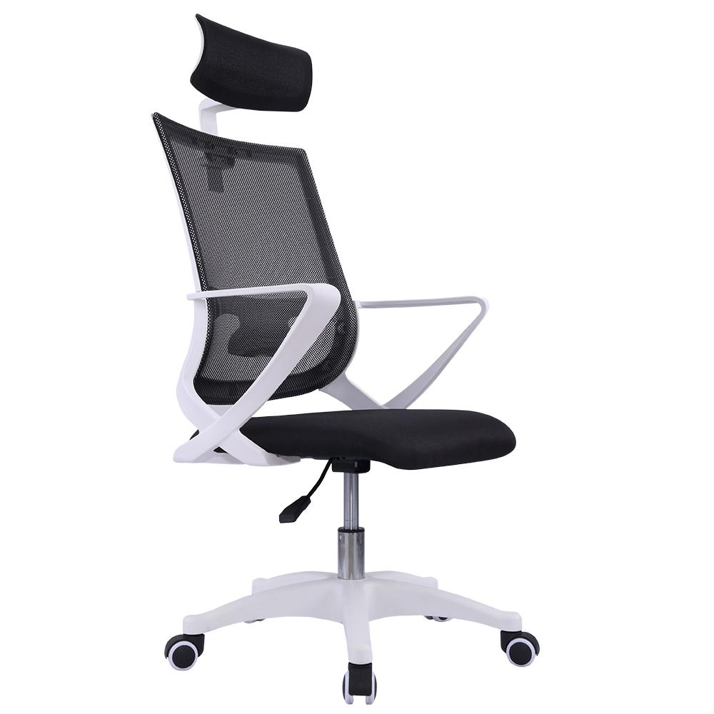 다니카 메쉬 의자 헤드형 BTHD-006W, 블랙