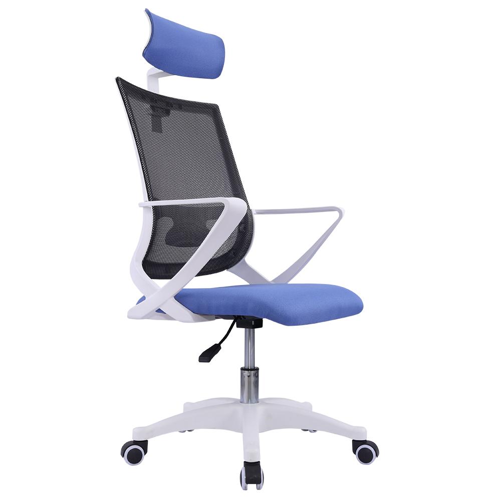 다니카 메쉬 의자 헤드형 BTHD-006W, 블루