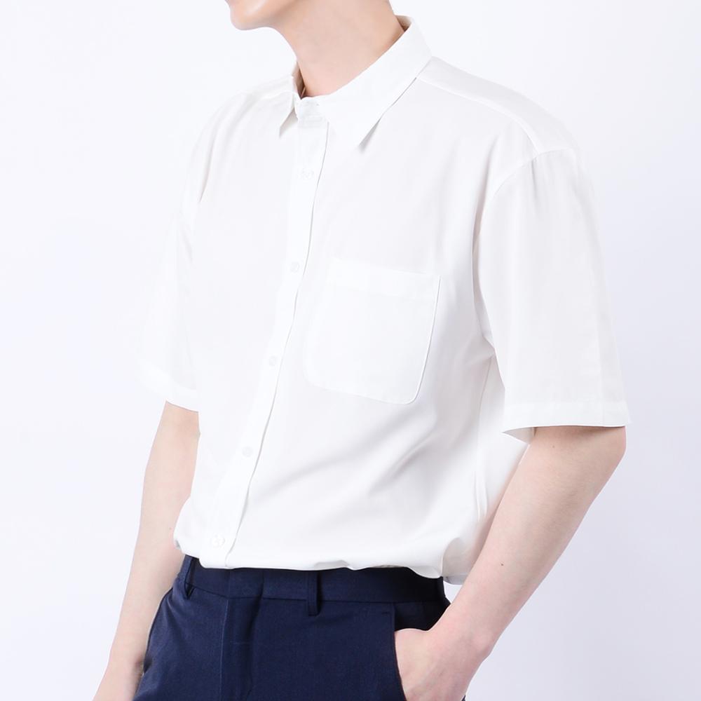 타운클로 남성용 스판 세미 오버핏 반팔 셔츠