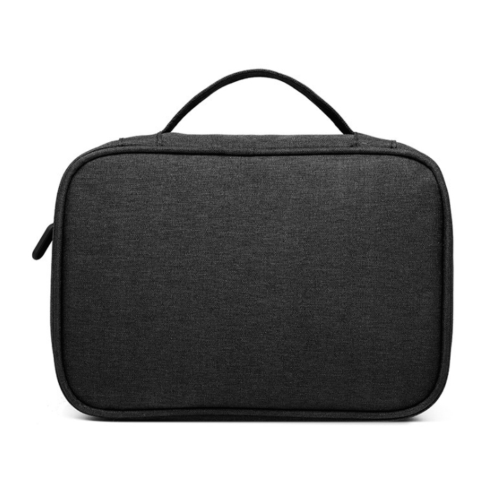 콩 투포켓 대용량 충전기 태블릿 보관함, 블랙