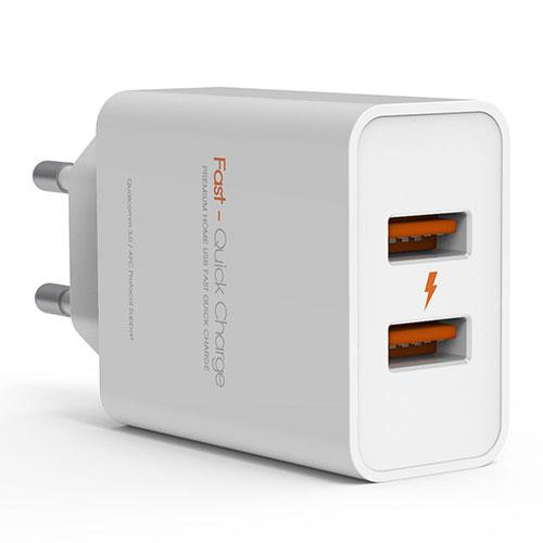 주파집 퀄컴 3.0 지원 듀얼 고속 멀티 충전기 36W UW109, 혼합색상, 1개