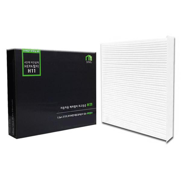우진 헤파 H11등급 자동차용 초미세먼지 에어컨 필터, MP(H21), 1개