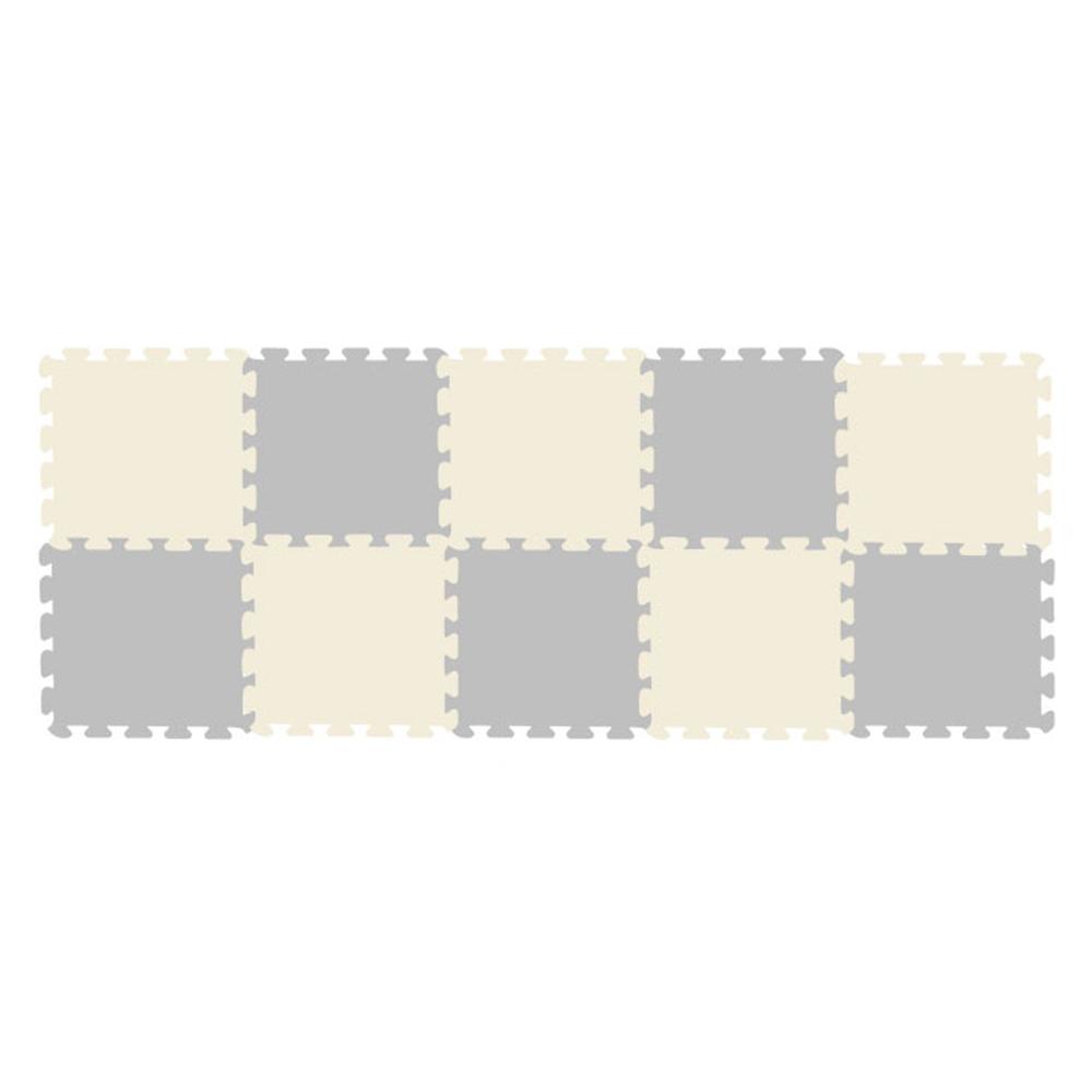 크림베이비 EVA 퍼즐매트 그레이 5p + 크림 5p 세트, 혼합색상