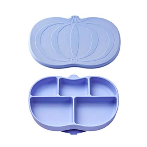 마미스테이블 유아 흡착 식판 + 뚜껑 세트, 블루베리, 본체 + 뚜꼉