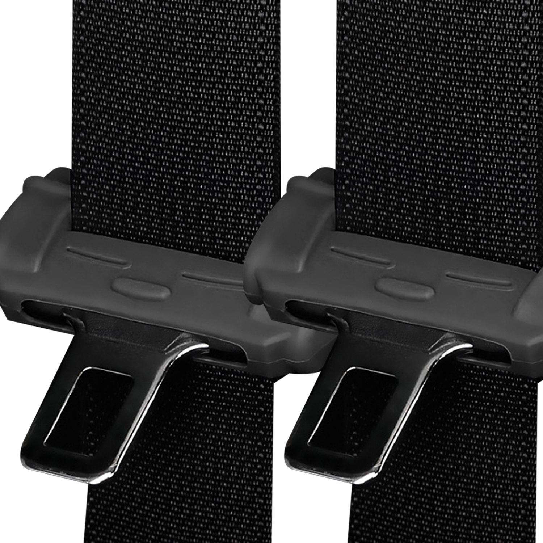 코코아이티 킨데코 실리콘 안전벨트 클립커버, 블랙, 2개