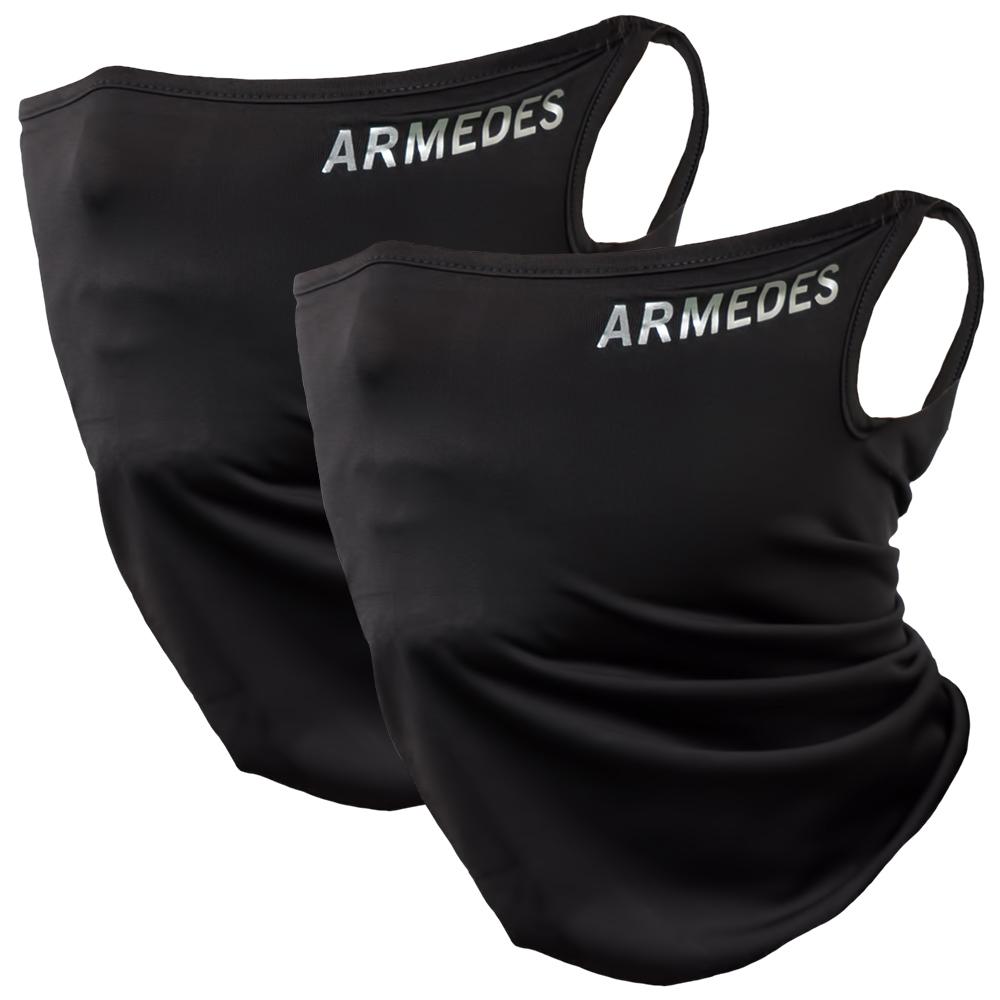 아르메데스 사계절 귀걸이 스포츠 마스크 2p, 블랙