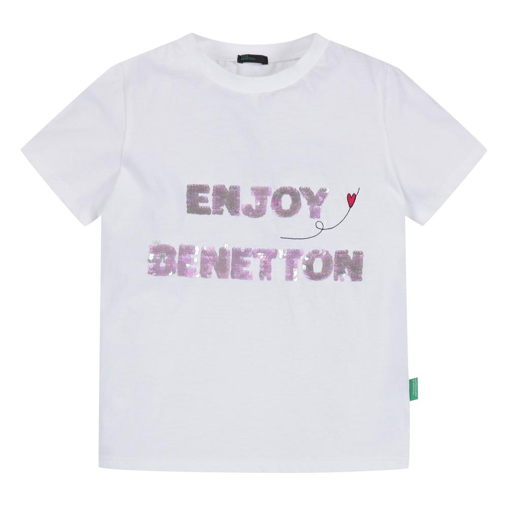베네통 아동용 ENJOY 베네통 스팽글 티셔츠 QATSP4031
