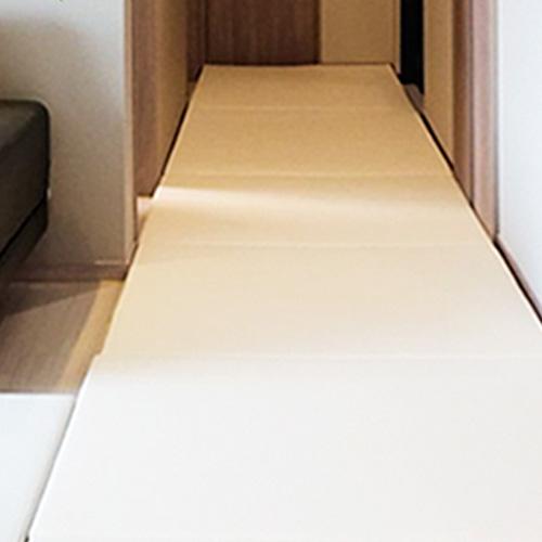 쁘띠메종 맞춤 2단 폴더 놀이매트, 앞(크림), 뒤(크림)