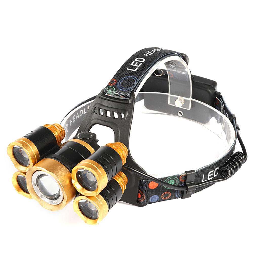 슈와츠코리아 충전식 LED 5구 헤드랜턴 SHC-139, 혼합색상, 1개