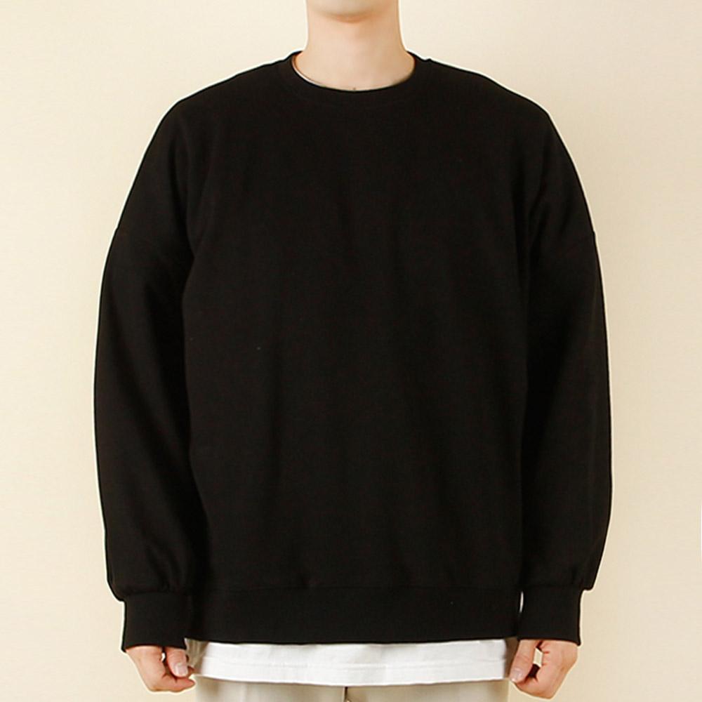 빌락트 남녀공용 오버핏 박스핏 무지 맨투맨 티셔츠