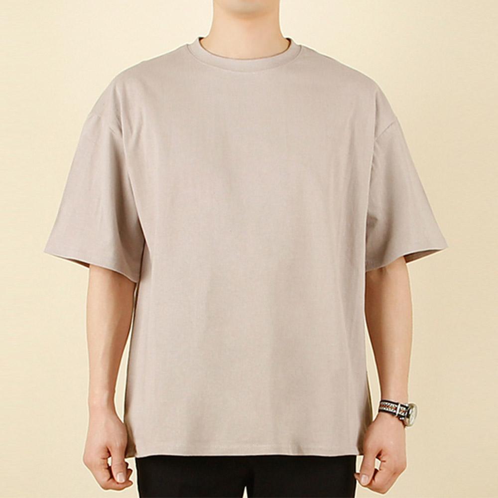 빌락트 남녀공용 오버핏 무지 반팔 티셔츠